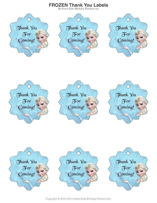 Free Printable Frozen Labels