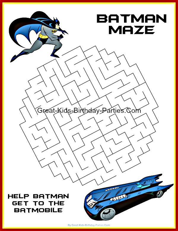 Free Batman Printables including coloring pages, invitations, logos, emblems, masks, stickers, paper craft & lots more, all free.