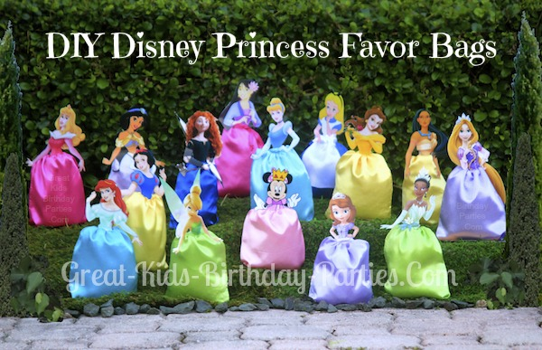DIY Disney Princess Party Favors/Favor Bags