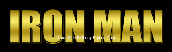FREE IRON MAN Logo–Easy picture tutorial to learn how to make the movie logo, including IRON MAN 3 font. Make party invitations, decorations, party labels, stickers, cake and cupcake toppers and more.