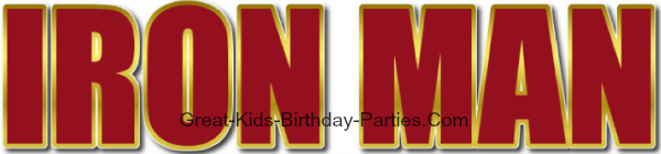 IRON MAN Font - Download this FREE font and have fun making party invitations, party labels, stickers, name tags, water bottle labels and lots more for your next Iron Man birthday party.