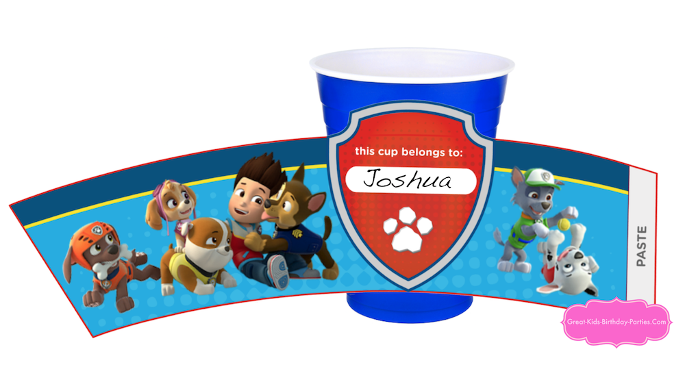 Paw Patrol Cup Wrappers Turn Ordinary Cups Into Party With These Free Printable