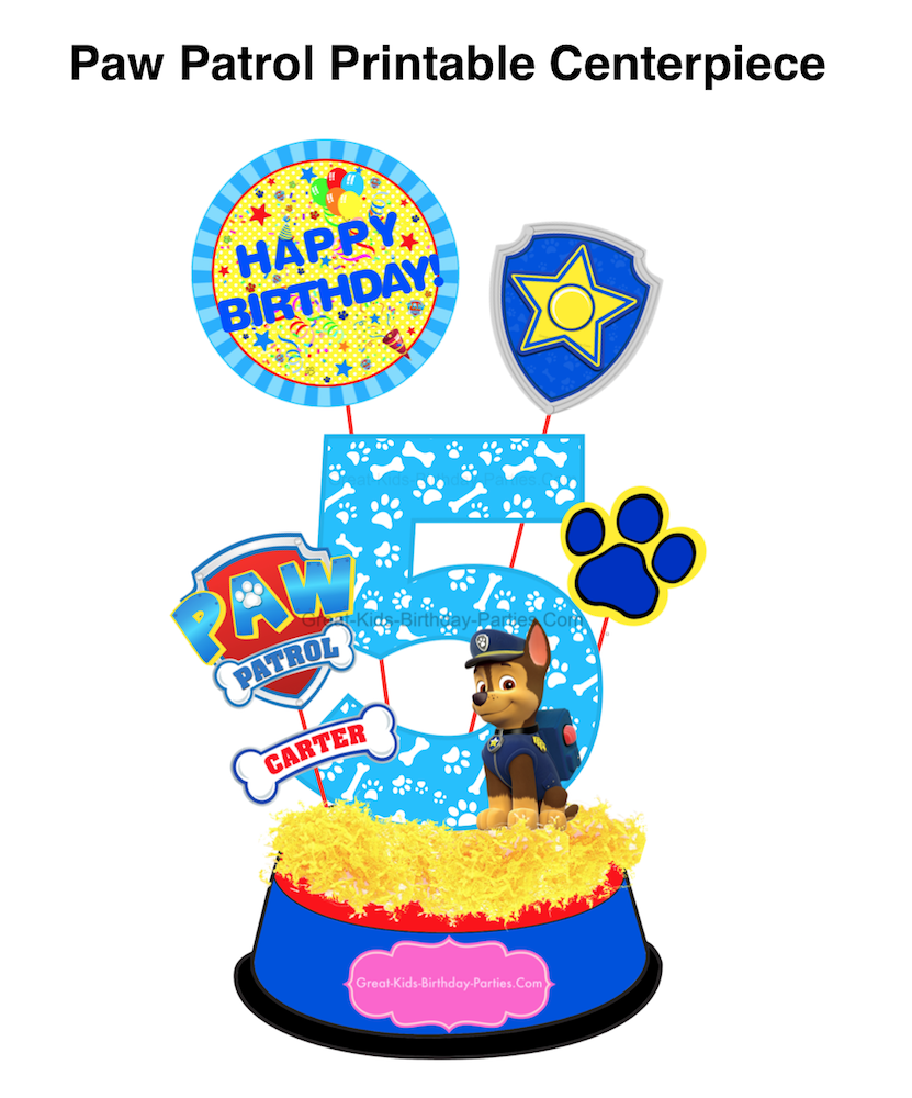 The Skys Limit With Your Imagination See Details For This Printable Paw Patrol Birthday Party Centerpiece Set At Our New Etsy Store