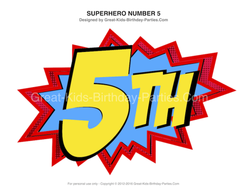 Superhero Numbers