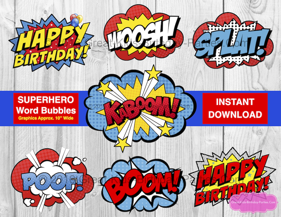 photo about Printable Superhero Logos known as Superhero Printables