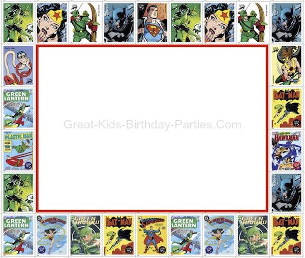 retro superhero invitation template