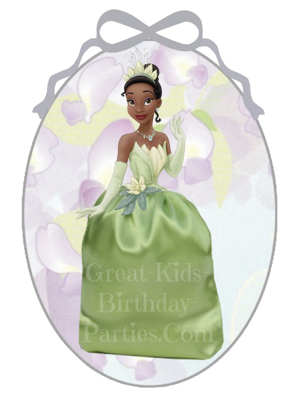 DIY Disney Princess Party Favors - Princess and the Frog Favor Bags