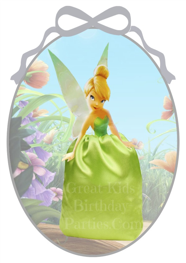 DIY Disney Princess Party Favors - TinkerBell Favor Bags