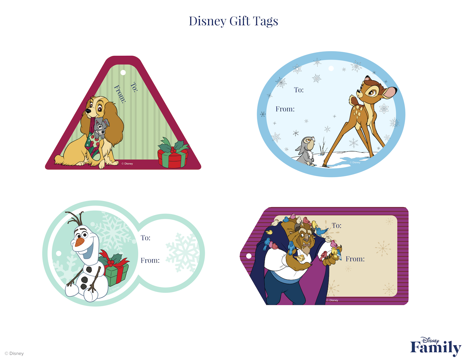 Disney Gift Tags
