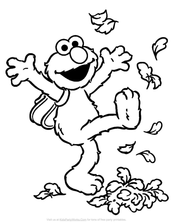 Elmo coloring page
