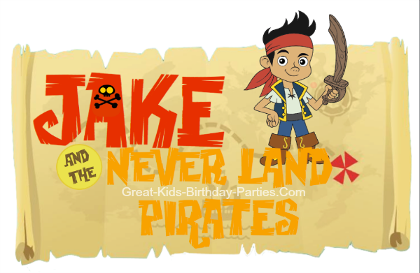 Jake and the Never Land Pirates Font - Download this FREE font for your next pirate party.  Make invitations, party labels, name tags, stickers, party favor labels and lots more.