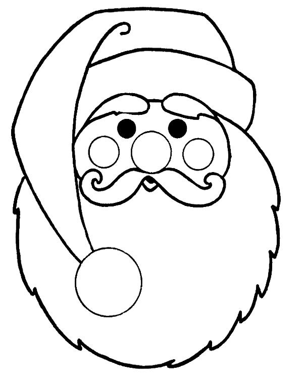 santa face coloring page