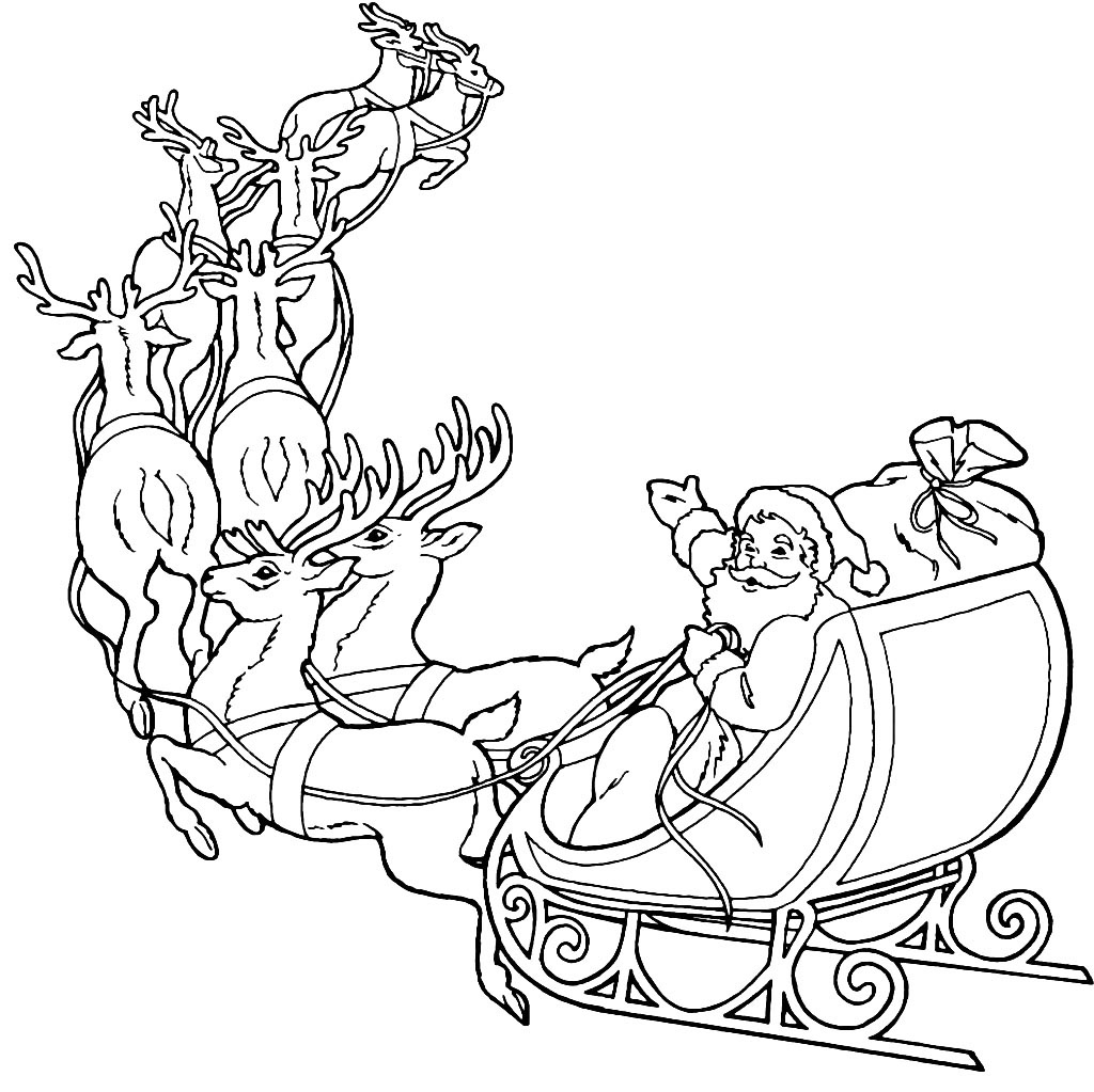 Heres A Beautiful Santa Coloring Page With Added Graphics For More Fun Click On Image Download