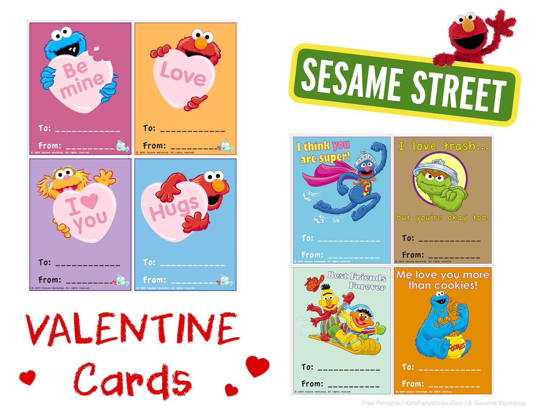 Sesame Street Valentines