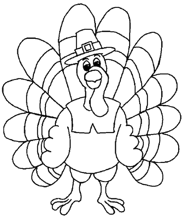 Printable Turkey Coloring Page for Kids #15 – SupplyMe | 708x600