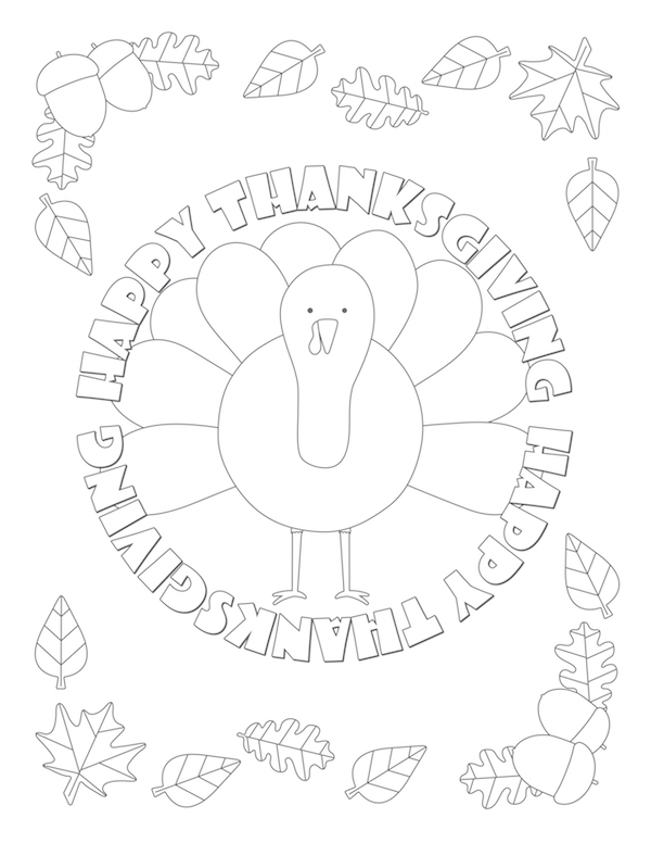 Oodles To Color While They Wait For Their Thanksgiving Feast Click On Image Free Coloring Page Download