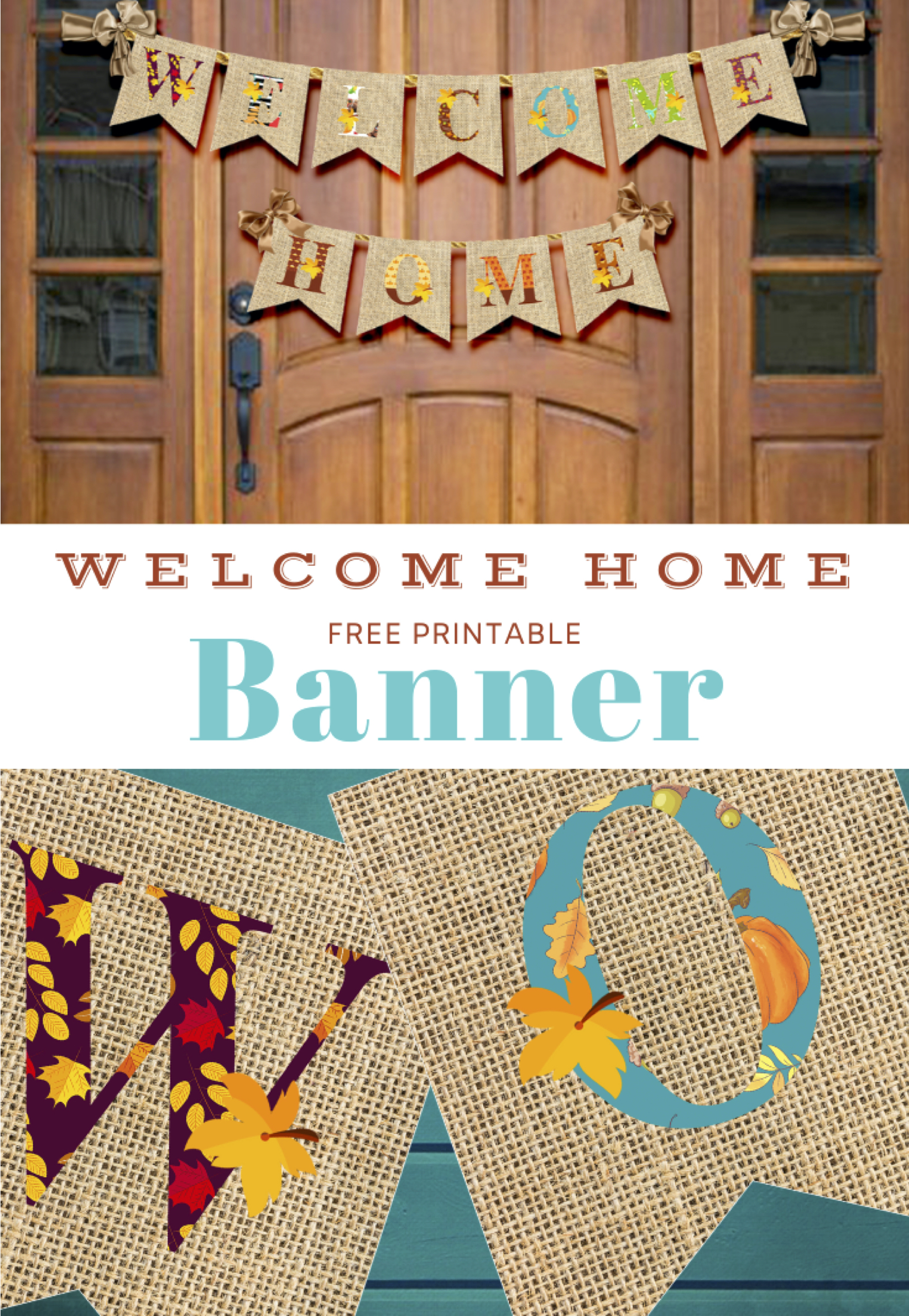 Free Thanksgiving Welcome Home Banner by KidsPartyWorks.Com