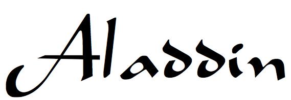 Aladdin font