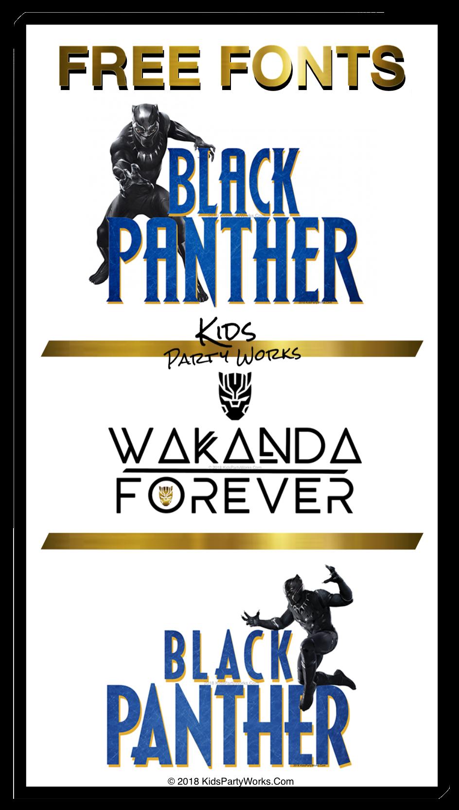 black panther font