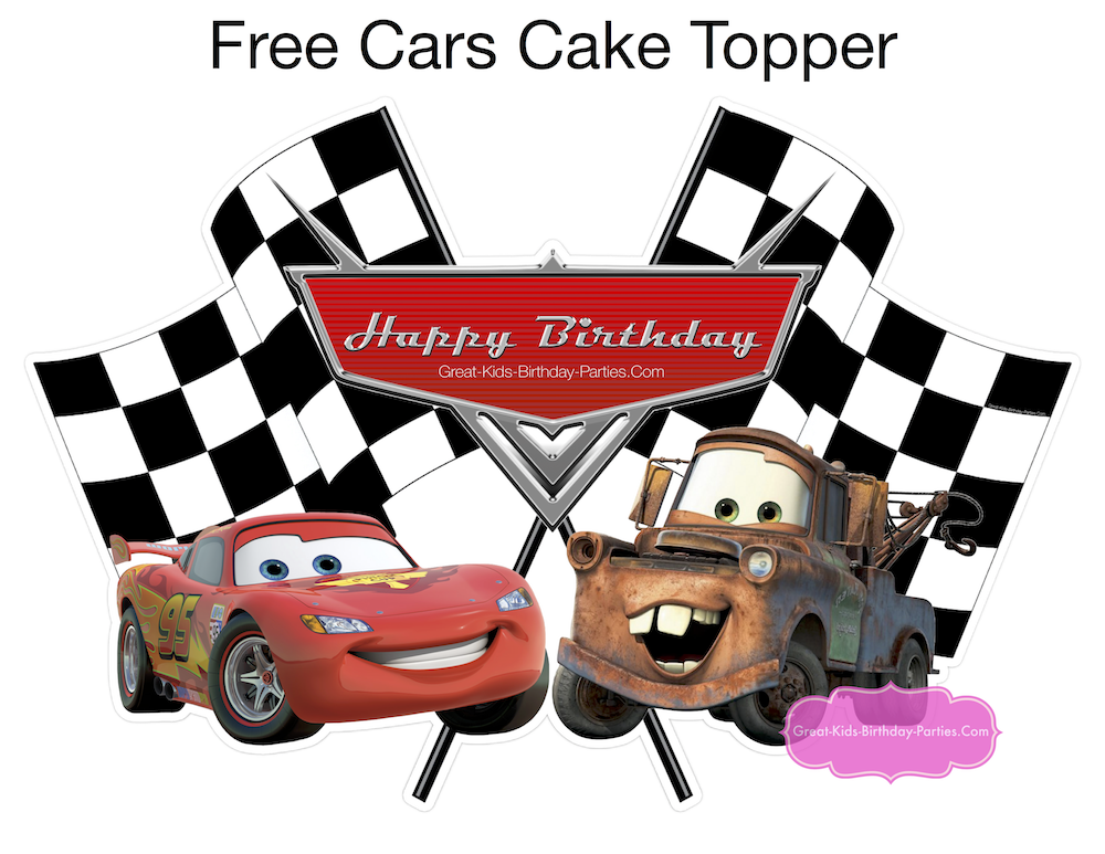 Free Disney Cars Cake Topper
