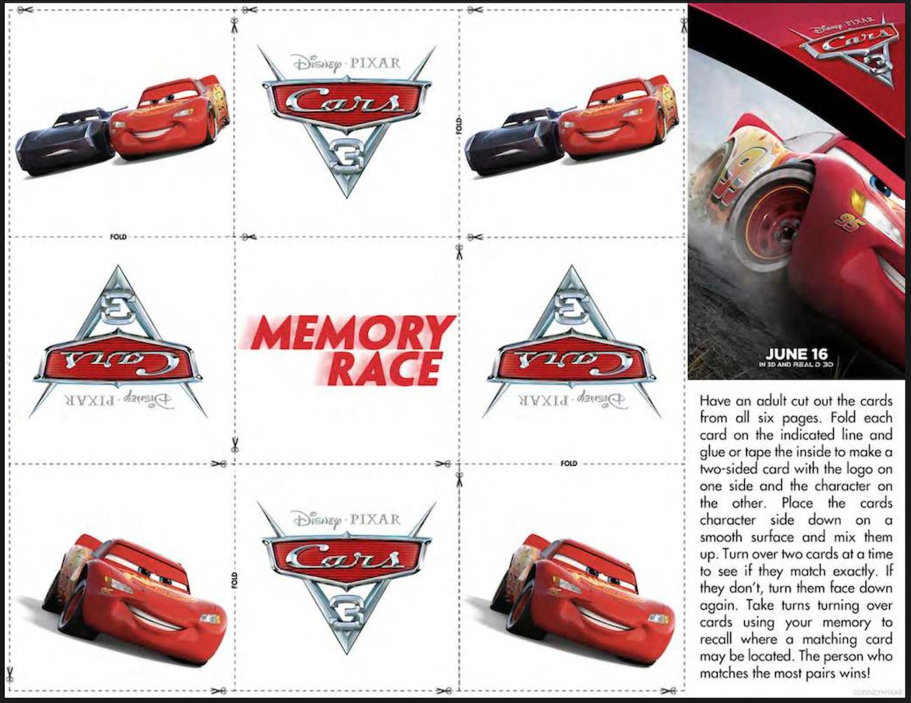 Cars Memory Game