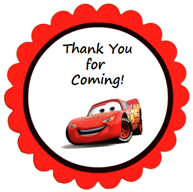 Labels Cars Printable -Printed-Gift Bag Label Cars Custom Gift Bags Chip Bag Birthday Cars Party