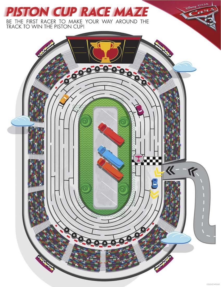 Piston Cup Race Maze