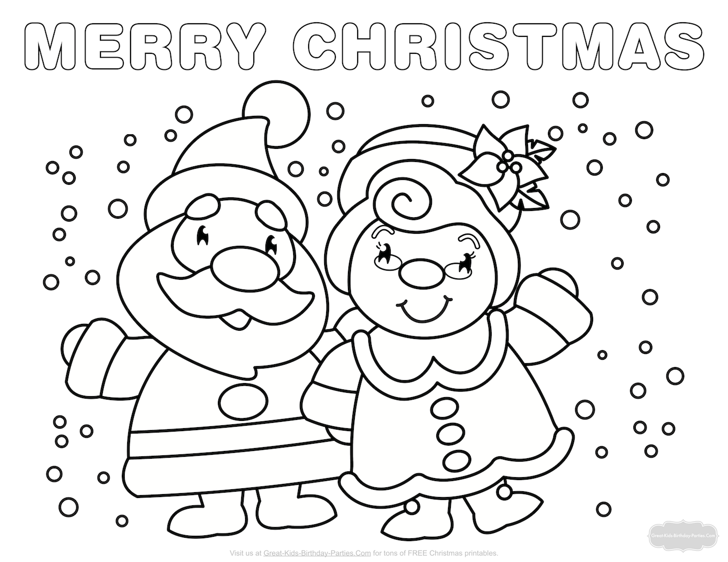 Color Santa And Mrs Claus In The Snow To Download Right Click On Your Mouse Save Computer Or Drag Desktop Mac Users