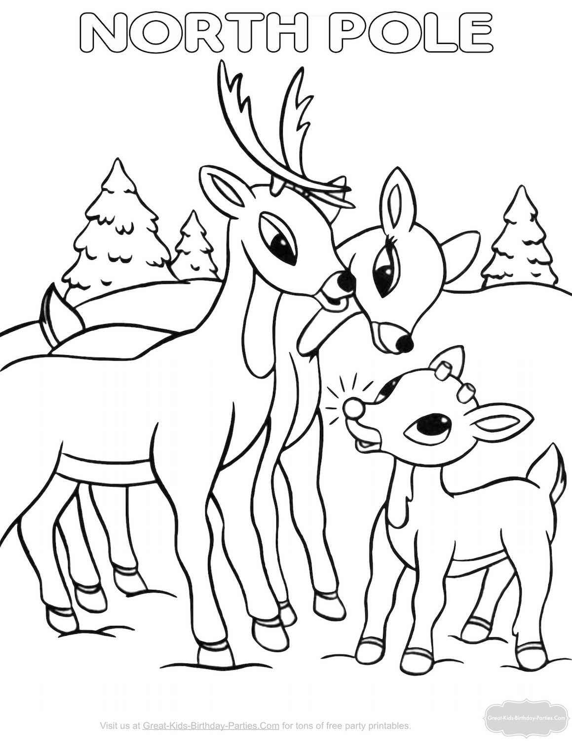 Rudolph Coloring Pages The Christmas Holiday Season Is Such A Cheerful Children Are Filled With Excitement And Looking Forward To Big Day