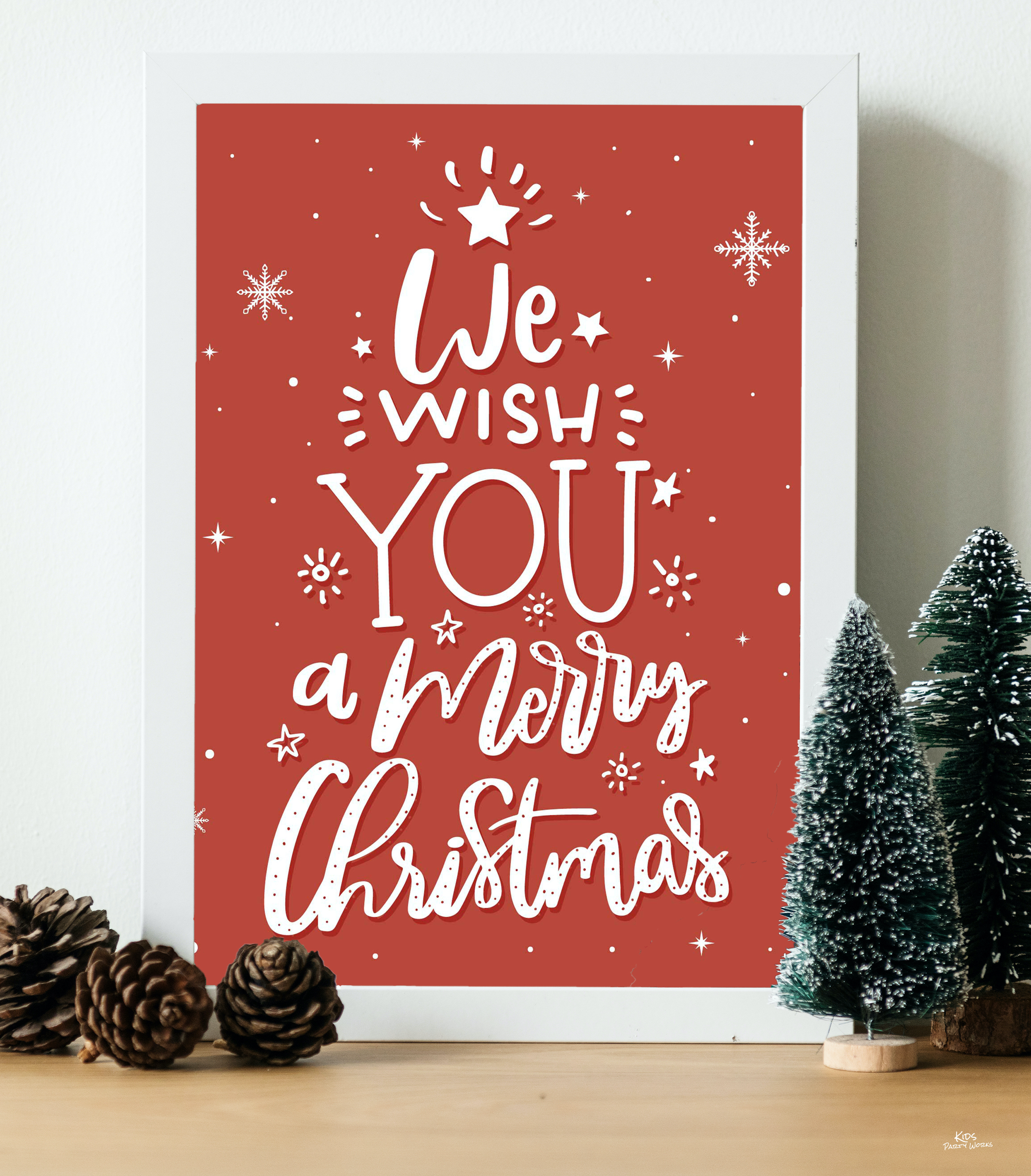 We Wish You a Merry Christmas Printable l KidsPartyWorks.com