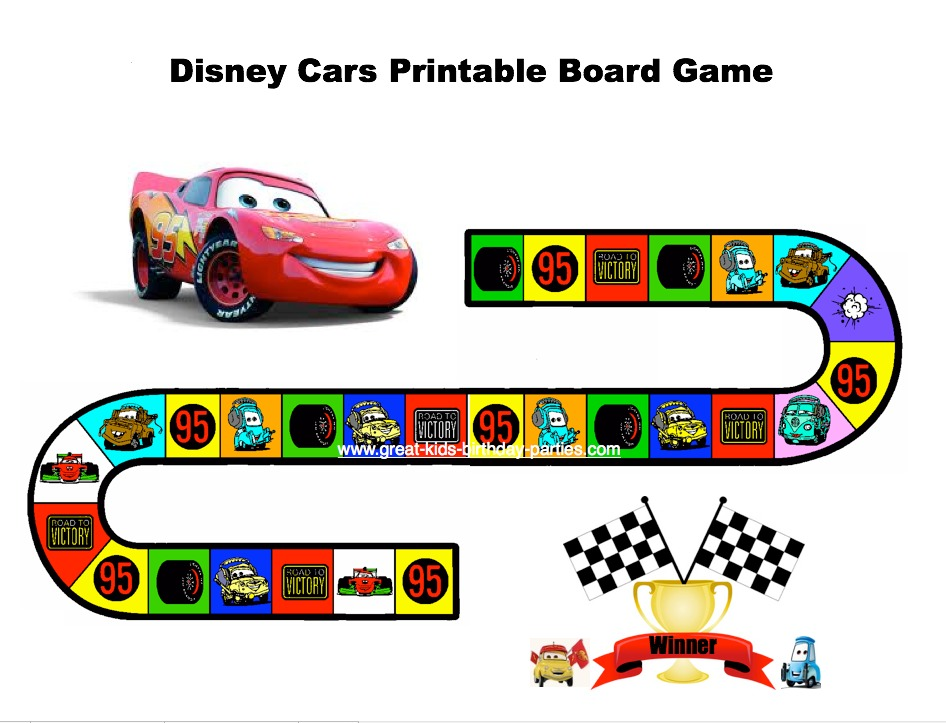 This Cars Themed Printable Game Is Perfect To Keep Children Entertained While Your Other Guests Arrive