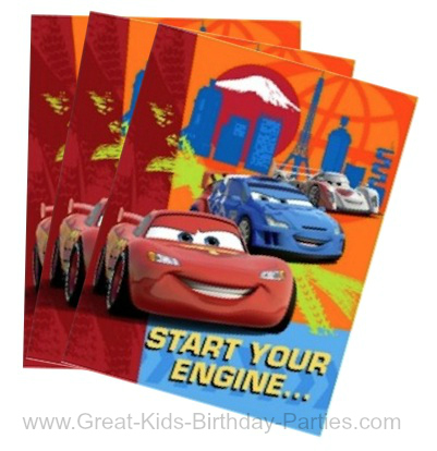 Purchase Ready Made Invitations For Your Disney Cars Birthday Party At Local Store These Usually Come In A Pack Including Envelopes And Costs