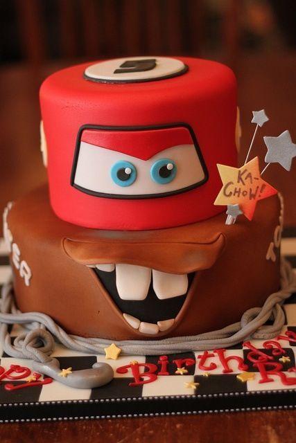 Enjoyable Disney Cars Cake Personalised Birthday Cards Veneteletsinfo