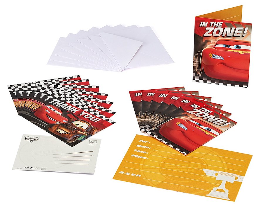 FREE Printable Cars Invitations - 4 per sheet #cars invitations