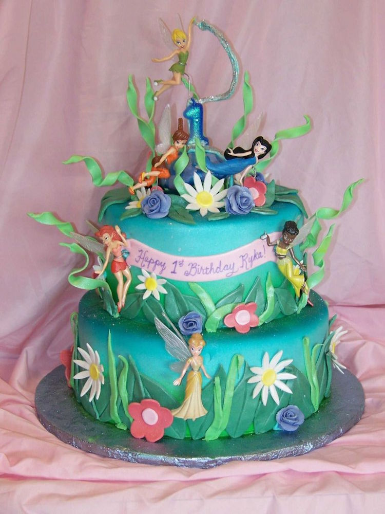 Awesome Tinkerbell Birthday Cake Personalised Birthday Cards Cominlily Jamesorg