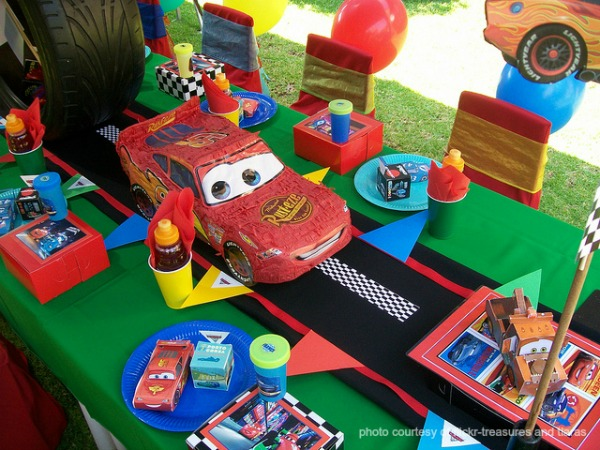 Cars 2 Birthday Party Done By Treasures And Tiaras Notice The Bright Color Scheme It Sets Stage For What You Know Is Going To Be A Great