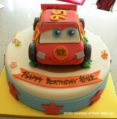 Terrific Disney Cars Cake Personalised Birthday Cards Veneteletsinfo