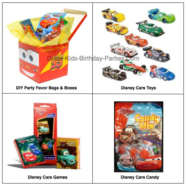 Disney Cars Birthday Party Favors