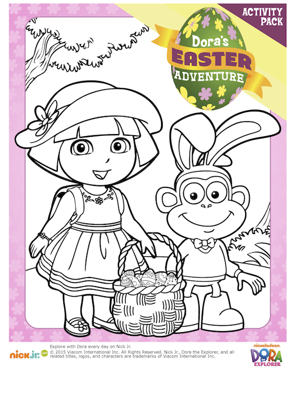 Join Dora And Her Friends For An Easter Adventure With This Fun Activity Pack Includes Coloring Pages Spot The Difference Matching Game Click