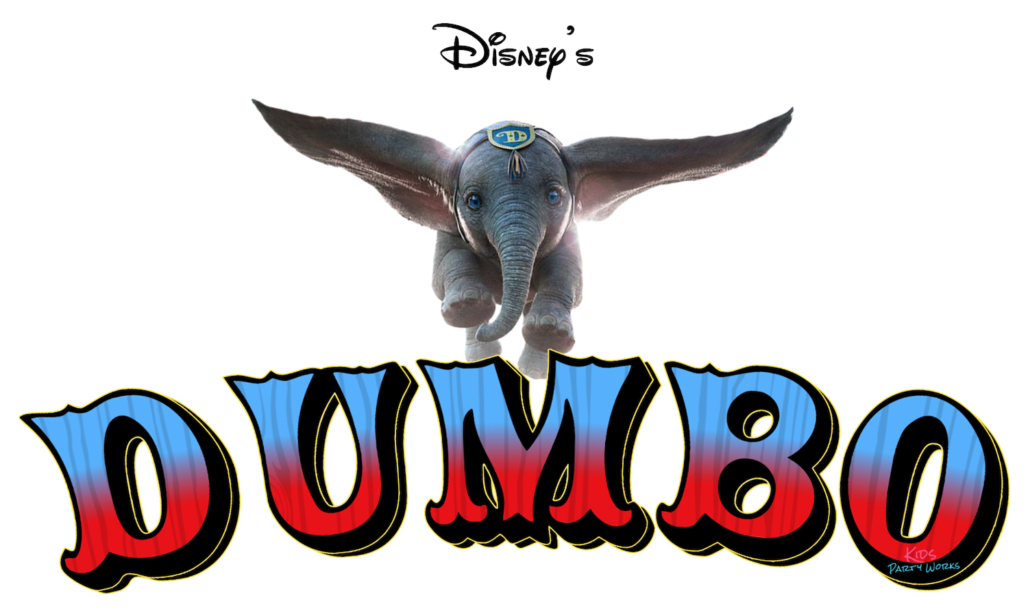 Free Dumbo Font. Visit KidsPartyWorks.Com for tons of free kids party printables.