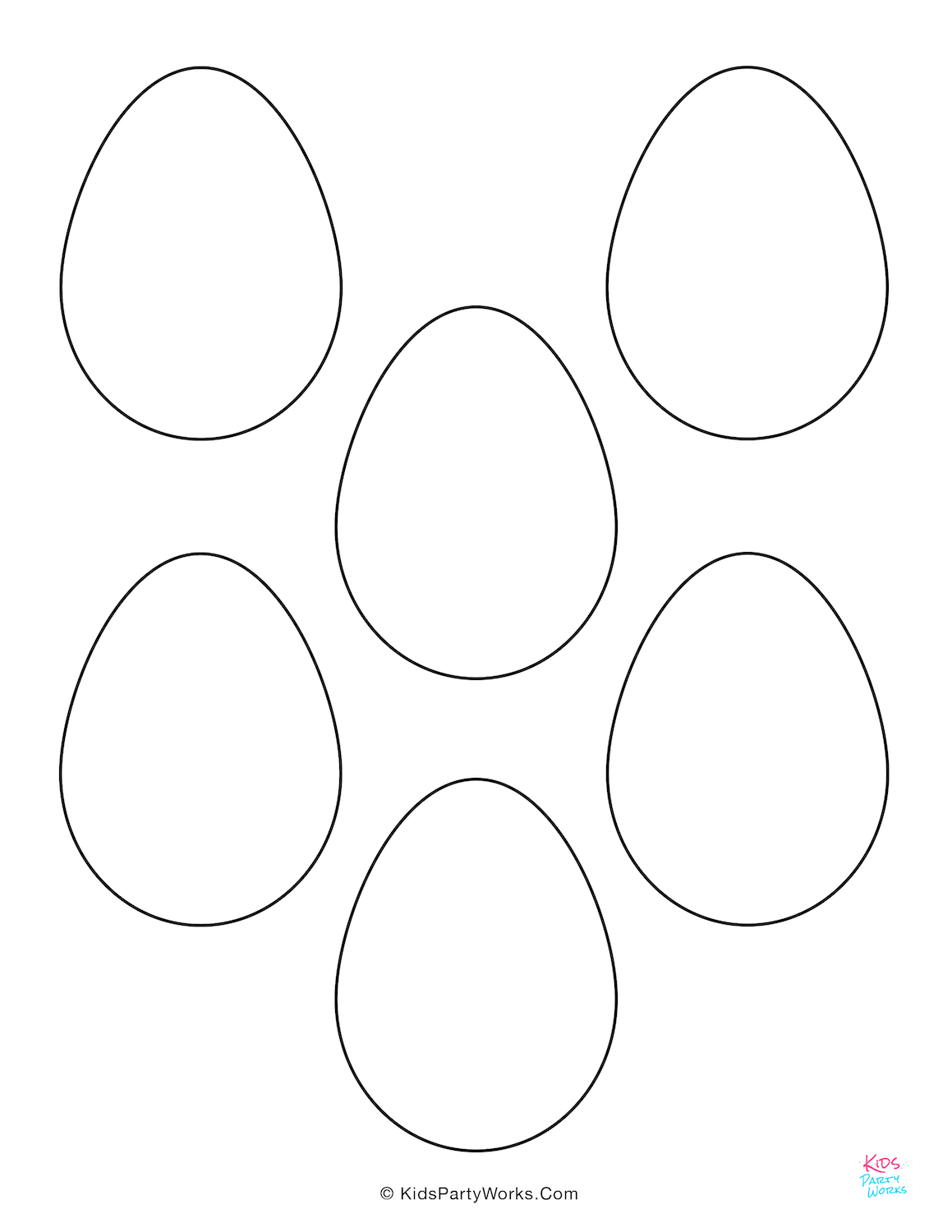 Easter Eggs Templates and Coloring Pages