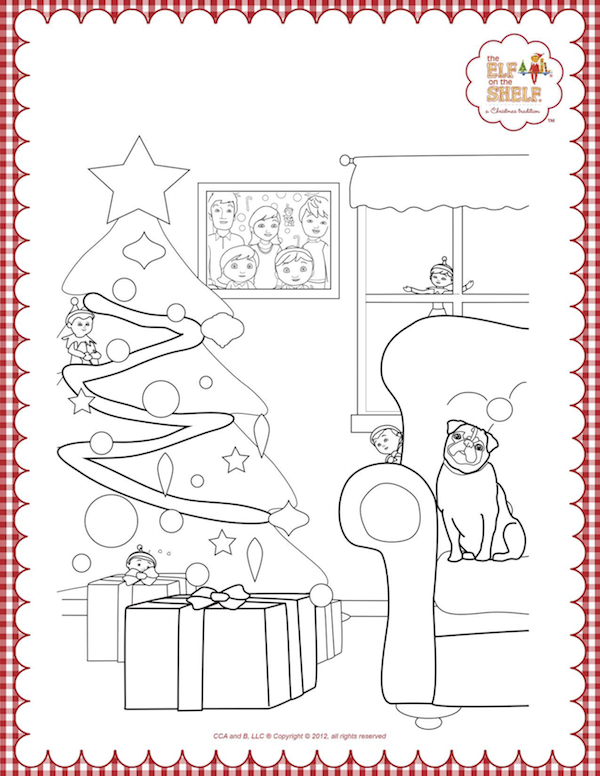 Elf on the Shelf Coloring Pages.