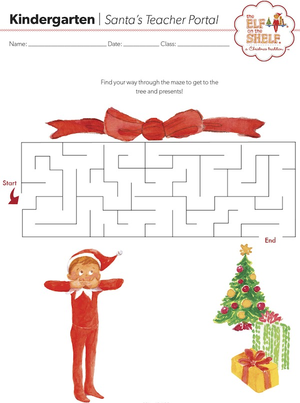 elf on the shelf maze