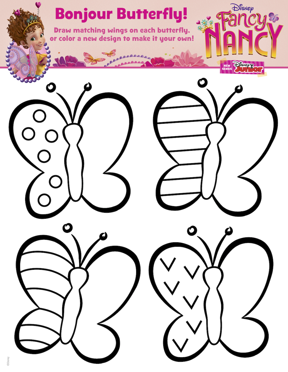 Fancy Nancy Activity Page