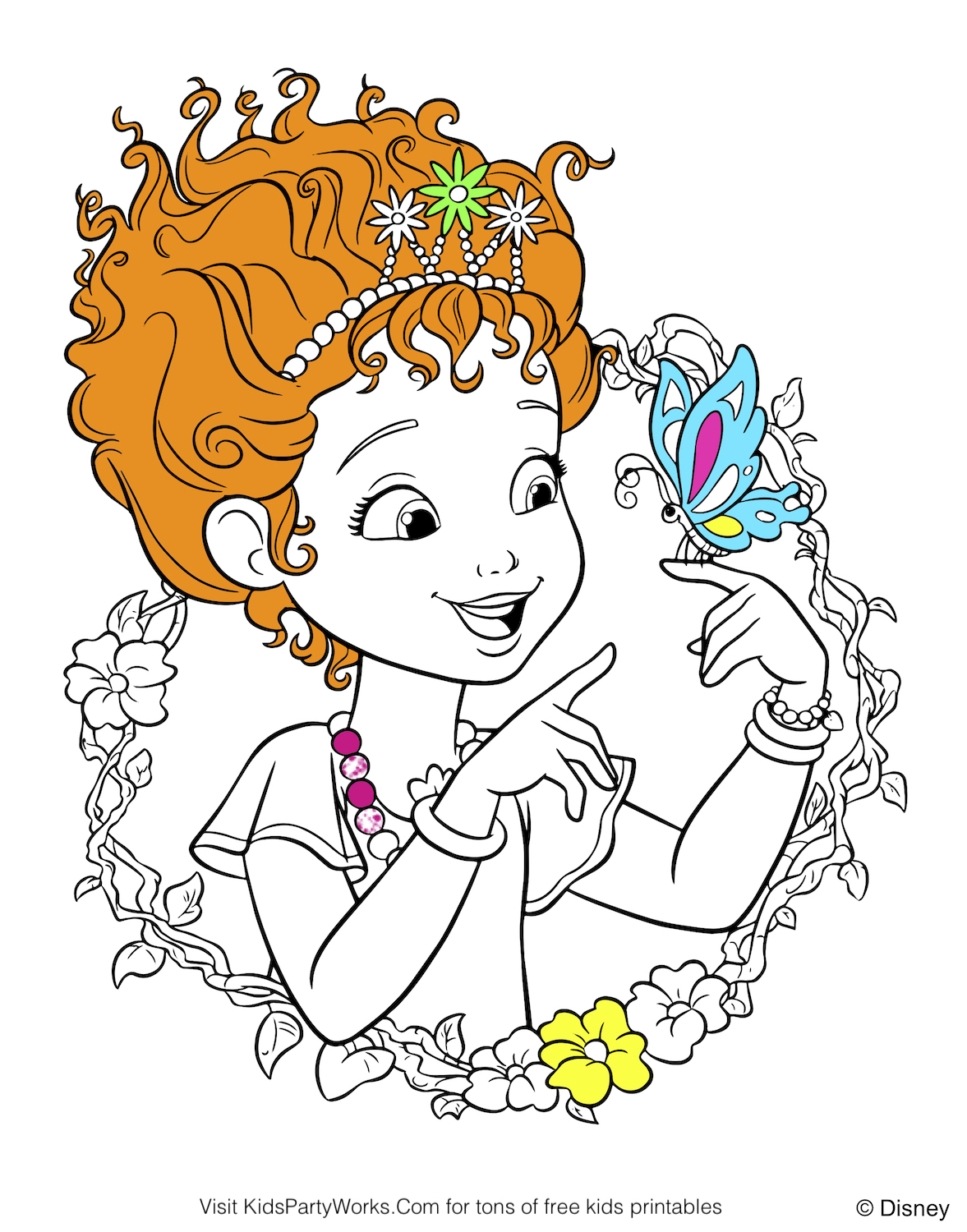 Fancy Nancy Coloring Page - Coloring Home | 1500x1177