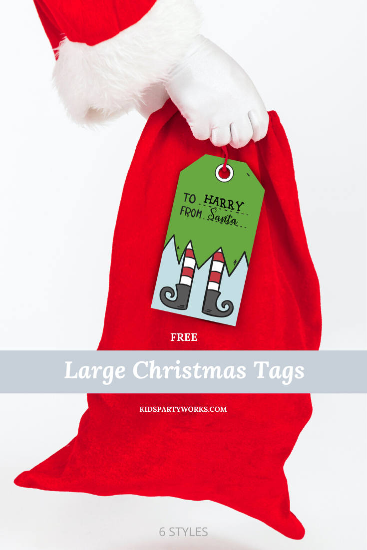 Free Large Christmas Gift Tags l KidsPartyWorks.com