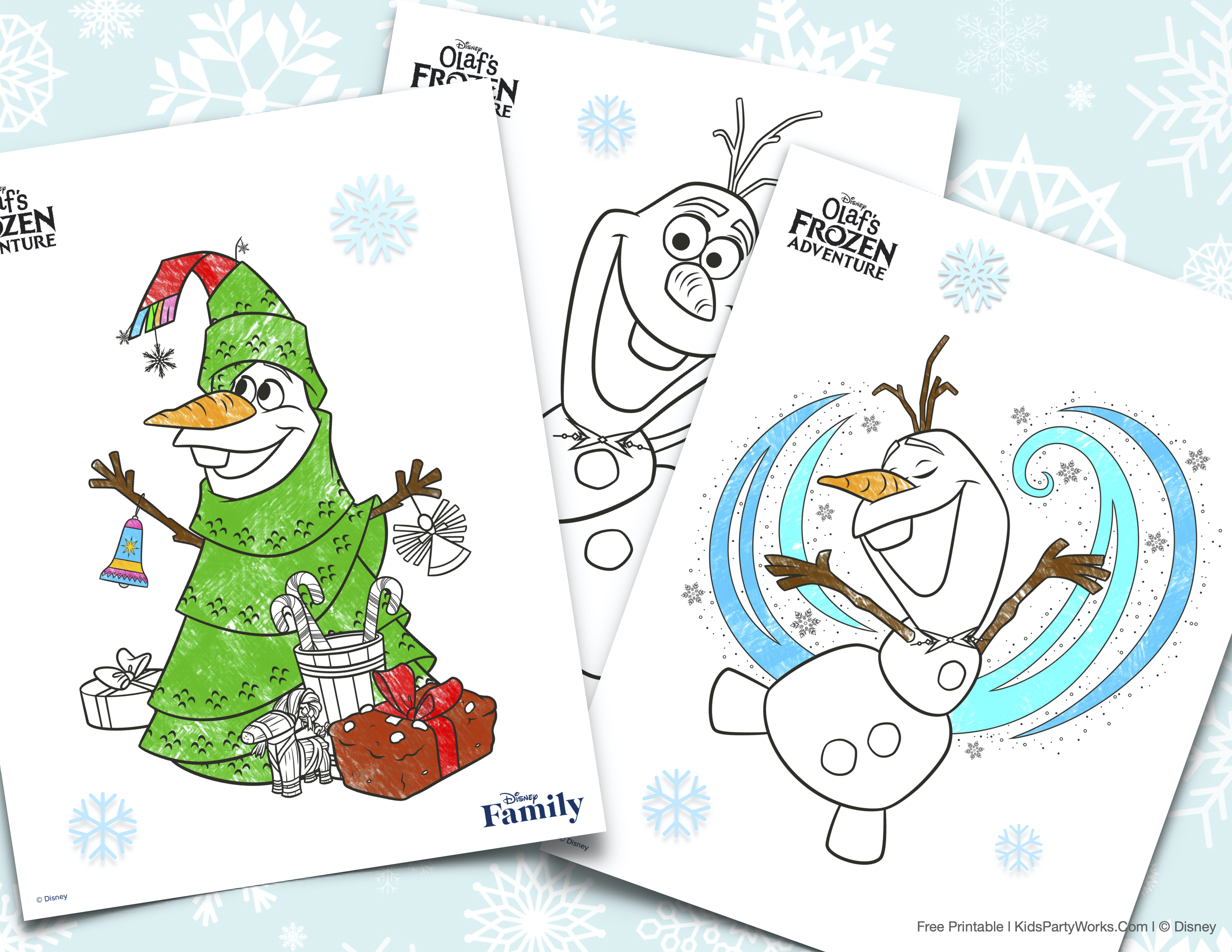 Frozen Coloring Pages l KidsPartyWorks.com