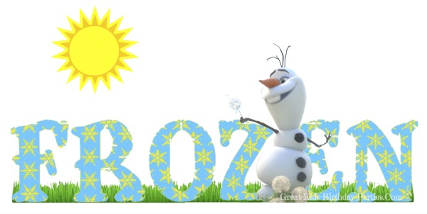 Free Frozen Font at Great-Kids-Birthday-Parties.Com