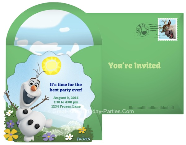 Free Online Frozen Invitations, send via email or social media.