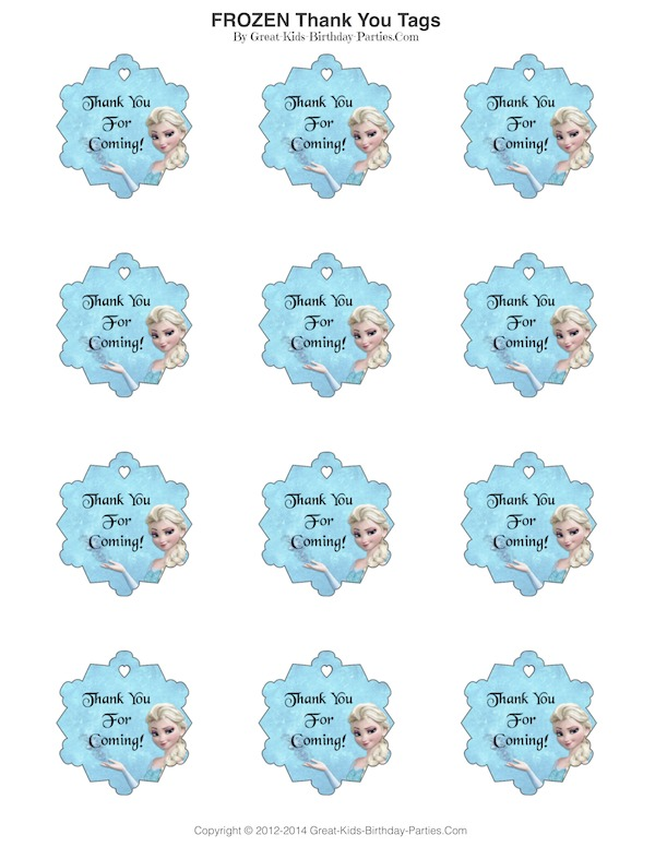 photograph about Frozen Food Labels Free Printable named Frozen Occasion
